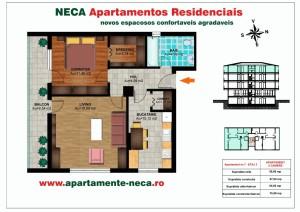 Schita Apartament NECA etaj superior